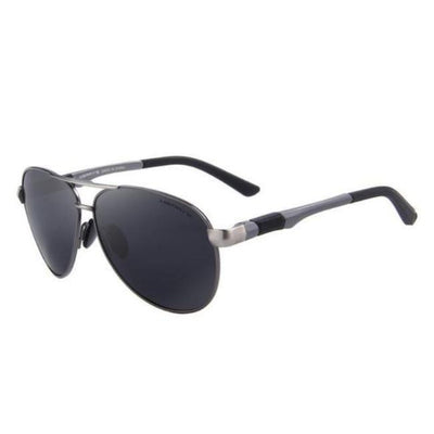Polarized Aviator - Black / Gray