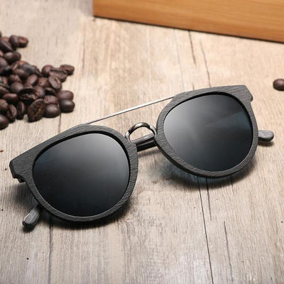 Helbern Polarized Wooden Sunglasses