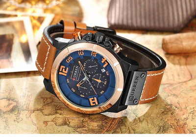 Krito Chronograph Leather Watch