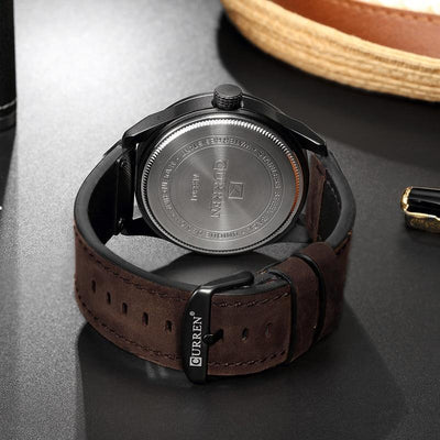 Q-Zero Spiral Leather Watch