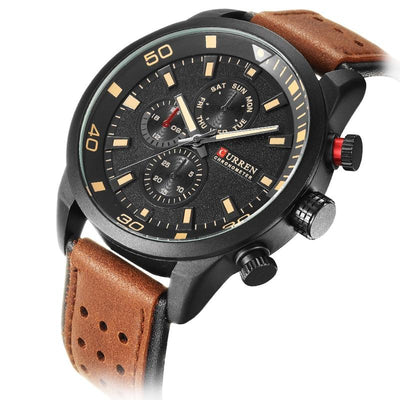 Varez Chronograph Leather Watch