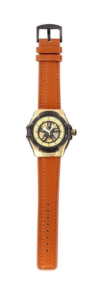 Antique Steel PU Leather Watch