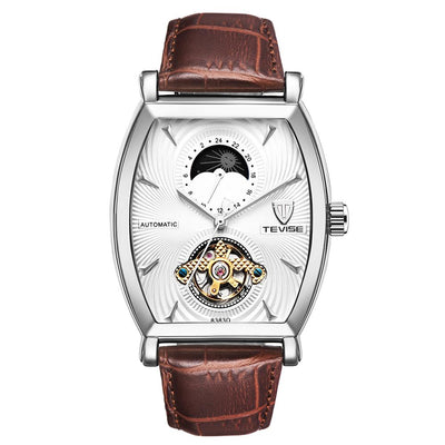 Circa Moon Phase Leather Watch