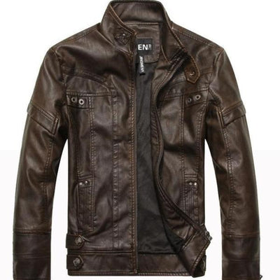 Asher Faux Leather Rider Jacket