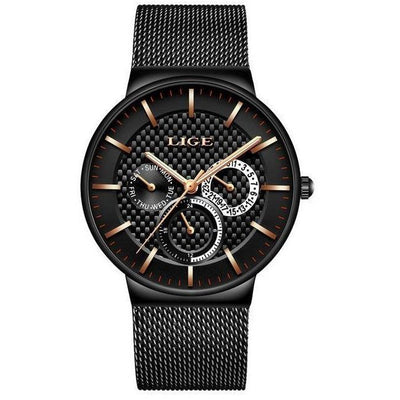 Ultra Slim Chronograph Stainless Steel Watch