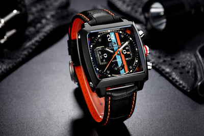 Vantage Automatic Square Leather Watch