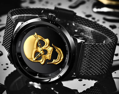 Skull Metal - Black Gold