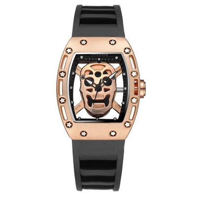Skull Rectangle Silicone Watch
