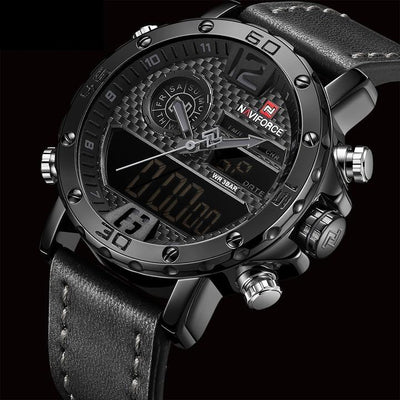 Military Dashboard Watch - Black Gray