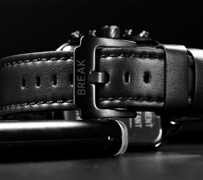Break Squared Leather Watch