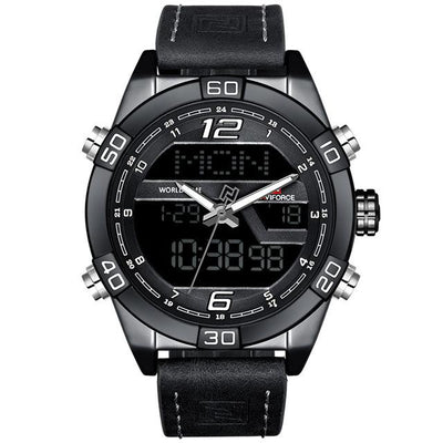 Javis LED Digital Leather Watch