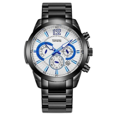 Linot Chronograph Stainless Steel Watch