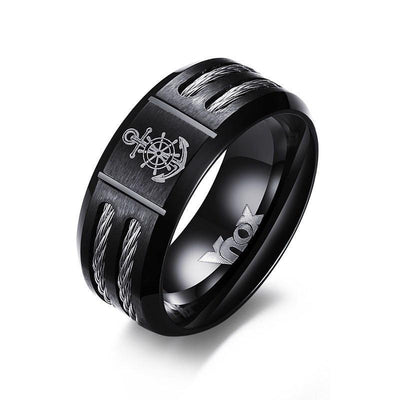 Anchor Black Ring