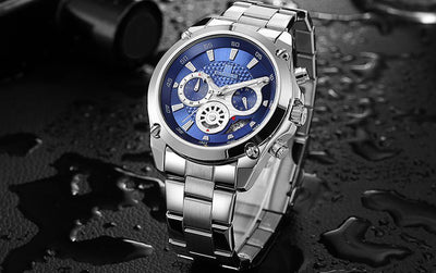 Lupe Chronograph Steel Watch