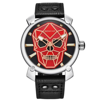 Franty Skull Leather Watch