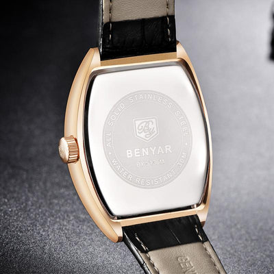 Zivo Rectangle Leather Watch