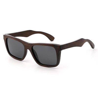 Sprow Red Brown Wooden Sunglasses