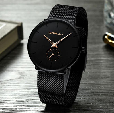 Jeyon Ultra Thin Mesh Steel Watch