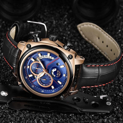 Palize Chronograph Leather Watch