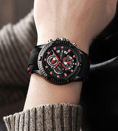Quotor 3D Sports Rubber Watch