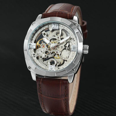 Roldy Skeletal Leather Watch