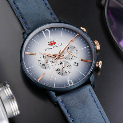 Majon Chronograph Leather Watch