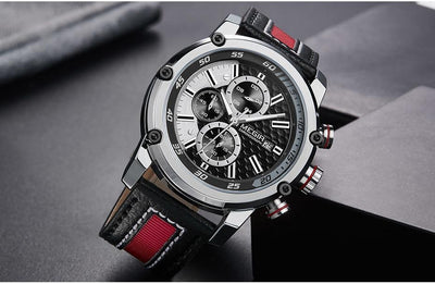 Sonichrono Stripe Leather Watch