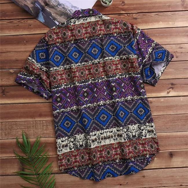 Mareo Tribal Print Shirt