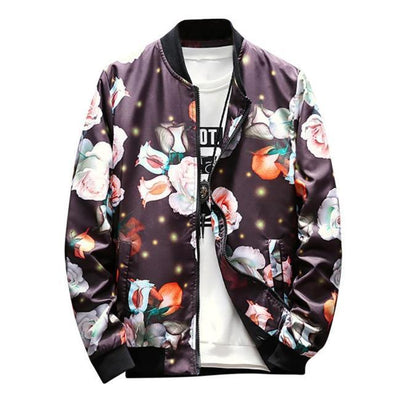 Magical Rose Bomber Jacket