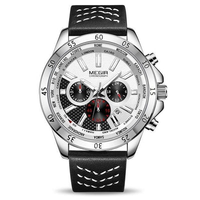 Melgano Chronograph Leather Watch