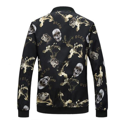 Skull Black Bomber Jacket