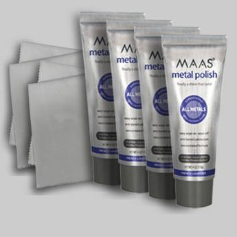 4 tube Value Pack with 2 free polishing cloths (free shipping) - Maas Polish New Zealand
