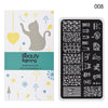 Dog Paws Rectangle Nail Stamping Plate Cute Cat Theme For Manicure XL-008 (US warehouse)