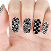 Halloween Theme Rectangle Nail Stamping Plate Skull Design Nail Art Tool BBBXL-018