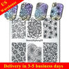 Flower Nail Stamping Plate New Design Pattern (US warehouse)