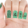 Christmas Tree Peguin Snow Theme Circle Nail Stamping Plate Cat Design Nail Art Tool BBB-006