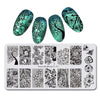 Flower Butterfly Design Rectangle Nail Stamping Plate Summer Series For Manicure BBBXL-011