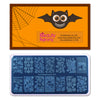 Halloween Pumpkin Net Theme Rectangle Nail Stamping Plate Spider Design Nail Art Tool BBBXL-029