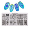 Kaleidoscope Flower Theme Rectangle Nail Stamping Plate Dot Design Nail Art Tool BBBXL-057