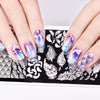Feather Series Rectangle Peacock Design Nail Art Stamping Plate BBBXL-065