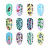 Butterfly Theme Rectangle Flower Pattern Nail Stamping Plate BBBXL-068