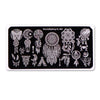 Dreamcatcher Series Rectangle Nail Art Stamping Plate Feather Design BBBXL-066