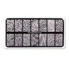 Water Marble Series Rectangle Texture Design Nail Stamping Plate BBBXL-063