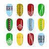 French Theme Rectangle Lace Design Nail Art Stamping Plate For Manicure BBBXL-069