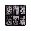 Animals Theme Square Nail Stamping Plate  Penguin Design For Manicure BBBS-018