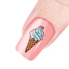 Ice Cream Pattern Square Nail Art Stamping Plate For Summer BBBS-027 (US Warehouse)