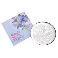 Beauty Girl Theme Flower Design Circle Nail Art Stamping Plate BBB-021 (US Warehouse)