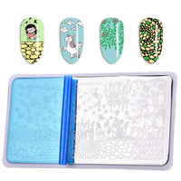 Birds Flower Pattern Rectangle Nail Art Stamping Plate BBBXL-077 (US Warehouse)