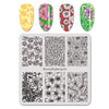 Flower Pattern Square Nail Art Stamping Plate For Manicure BBBS-032 (US Warehouse)