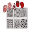 Lace Flower Pattern Square Nail Art Stamping Plate BBBS-029 (US Warehouse)
